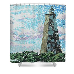 Old Baldy Lighthouse Shower Curtain