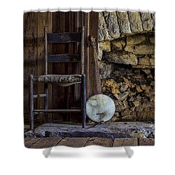 Old Banjo Shower Curtain by Heather Applegate