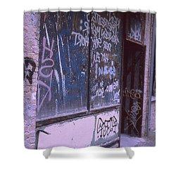 Old Bar, Old Graffitis Shower Curtain