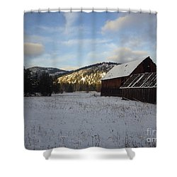 Shower Curtain featuring the photograph Old Barn 2 by Victor K