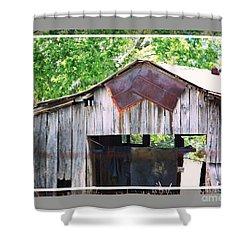 Old Barn Again Framed Shower Curtain