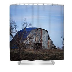 Shower Curtain featuring the photograph Old Barn At Hilltop Arkansas by Michael Dougherty
