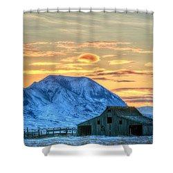 Old Barn Shower Curtain by Fiskr Larsen