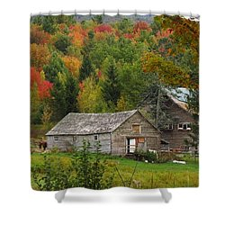 Old Barn In Fall Shower Curtain