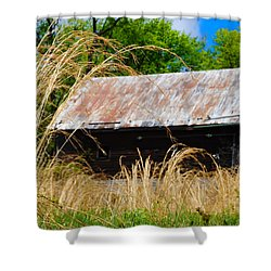 Old Barn In Roxborough Shower Curtain by Bill Cannon