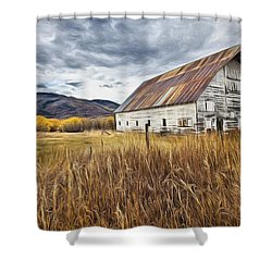 Old Barn In Steamboat,co Shower Curtain by James Steele