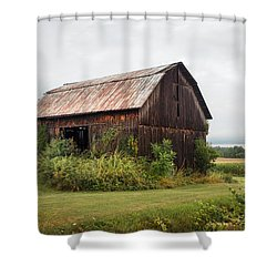 Shower Curtain featuring the photograph Old Barn On Seneca Lake - Finger Lakes - New York State by Gary Heller