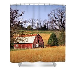 Old Barn Shower Curtain by Tamyra Ayles