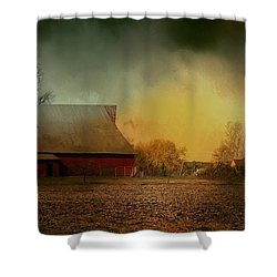 Old Barn With Charm Shower Curtain