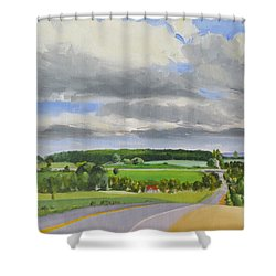 Old Barrie Road Shower Curtain