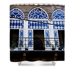 Old Beirut Home  Shower Curtain