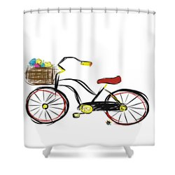 Old Bicycle Shower Curtain