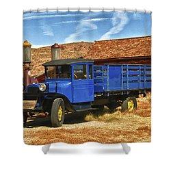 Old Blue 1927 Dodge Truck Bodie State Park Shower Curtain by James Hammond
