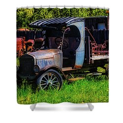 Old Blue Ford Truck Shower Curtain by Garry Gay