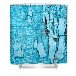Shower Curtain featuring the photograph Old Blue Wood by John Williams