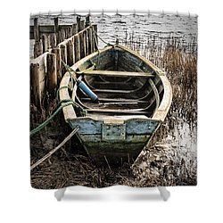 Old Boat Shower Curtain by Mike Santis