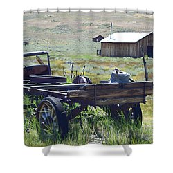 Old Bodie Wagon Shower Curtain