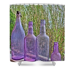 Old Bottle Collection Shower Curtain