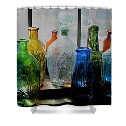 Shower Curtain featuring the photograph Old Bottles by John Scates