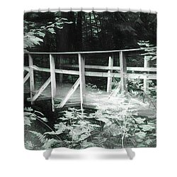 Old Bridge In The Woods Shower Curtain