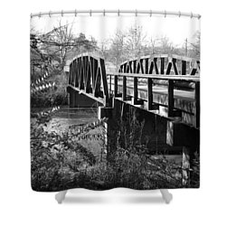 Old Bridge Shower Curtain