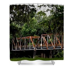 Old Bridge To Town Shower Curtain