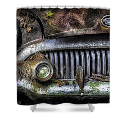 Old Buick Front End Shower Curtain