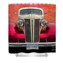 Old Buick Shower Curtain by Jim  Hatch