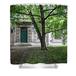 Old Building Exterior Shower Curtain