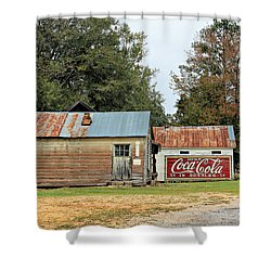 Old Buildings At Burnt Corn Shower Curtain