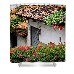 Old Buildings In Puerto Vallarta Mexico Shower Curtain by Elena Elisseeva