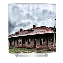 Old Burkeville Station Shower Curtain