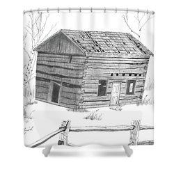Old Cabin Shower Curtain