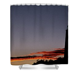 Old Cape Henry Sunrise Shower Curtain by Skip Willits
