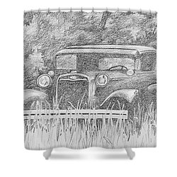Old Car At Rest Shower Curtain