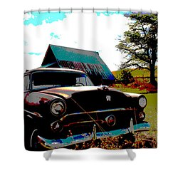 Old Car Shower Curtain by Jean Evans