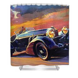 Old Car Racing Shower Curtain