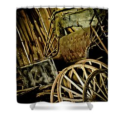Shower Curtain featuring the photograph Old Carriage by Joann Copeland-Paul
