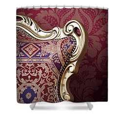 Shower Curtain featuring the photograph Old Chair. by Andrey  Godyaykin