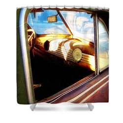 Shower Curtain featuring the photograph Old Chevrolet Dashboard by Glenn McCarthy Art and Photography