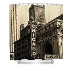 Old Chicago Theater - Vintage Art Shower Curtain