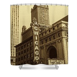 Old Chicago Theater - Vintage Photo Art Print Shower Curtain by Art America Gallery Peter Potter