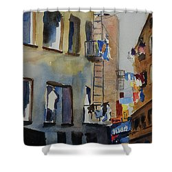Old Chinatown Lane Shower Curtain