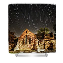 Old Church Shower Curtain by Edgars Erglis