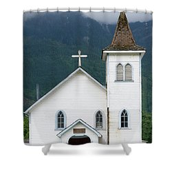 Shower Curtain featuring the photograph Old Church by Rod Wiens