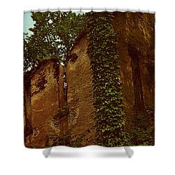 Old Church Ruins  Shower Curtain by Ruth  Housley