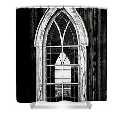 Shower Curtain featuring the photograph Old Church Window by Brad Allen Fine Art
