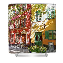 Old City Shower Curtain by Thomas M Pikolin