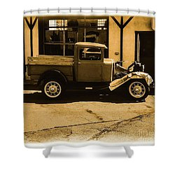 Old Classic Shop Shower Curtain