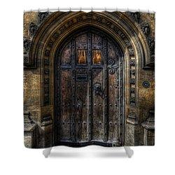 Old College Door - Oxford Shower Curtain